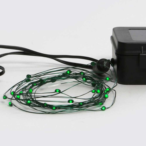 Green Fairy Lights - Battery Operated Coil