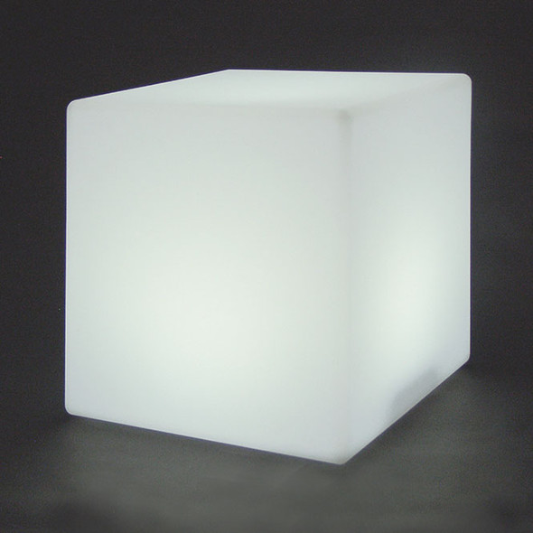 "16"" LED Color Changing Light Cube dark background"
