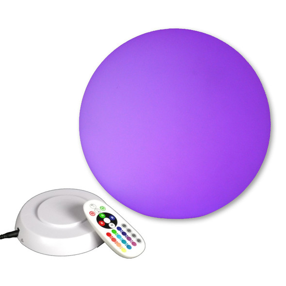 LED Light Orb with base & remote