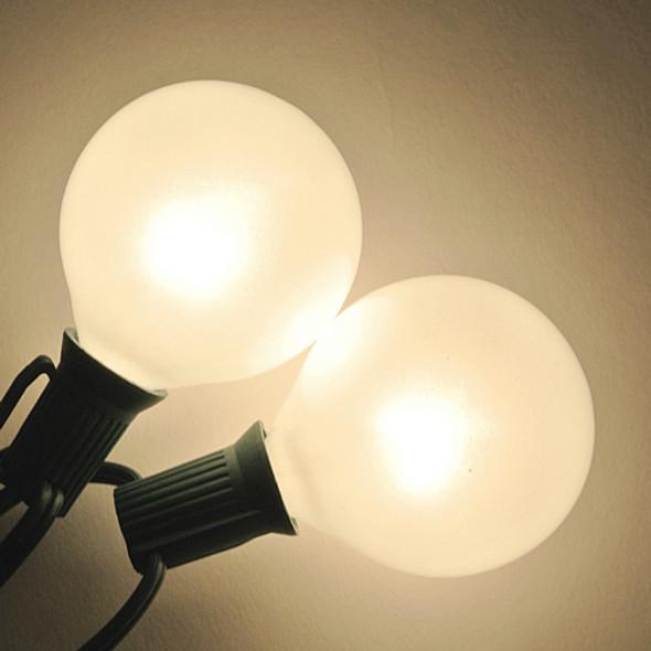 G50 White Satin Bulbs - C7 Base