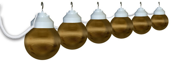 Bronze Awning Lights - 6 lights