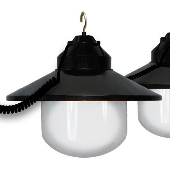 White Awning Lights with Black Shade