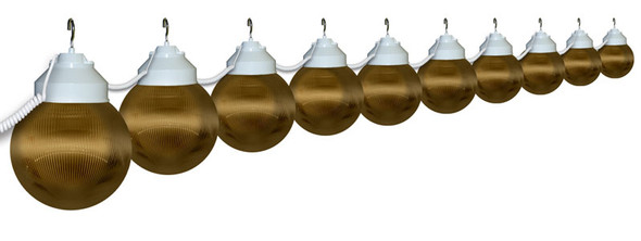 Bronze Awning Lights - 10 lights