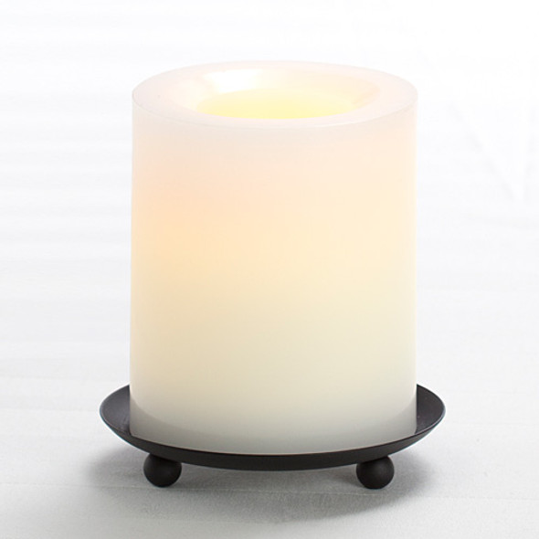"Wax Pillar Battery Operated Candle - 4"" White"