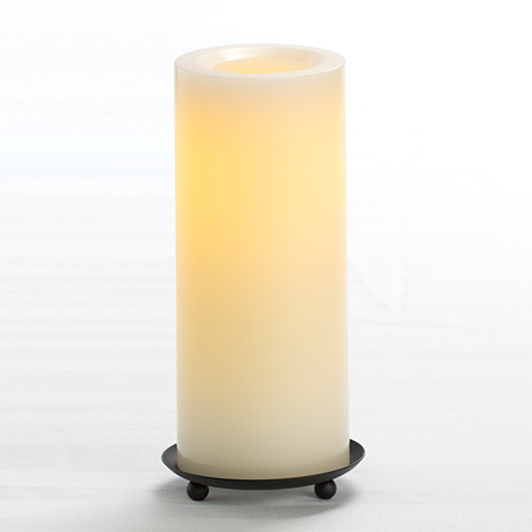 "Wax Pillar Battery Operated Candle - 8"" Cream"