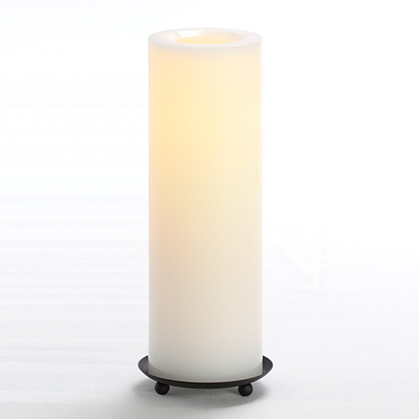 "Wax Pillar Battery Operated Candle - 10"" White"