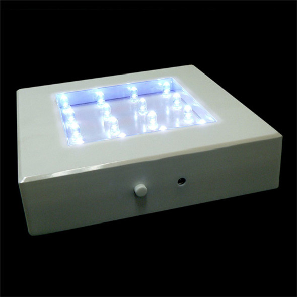 "5"" Square Light Base, White"