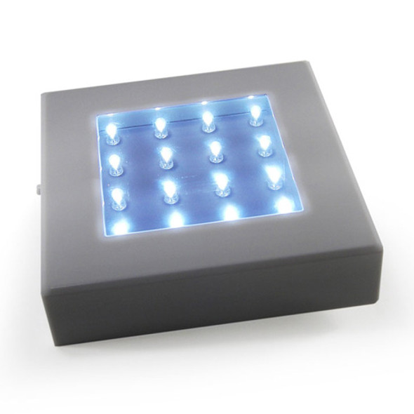 "5"" Square Light Base, White (lit)"