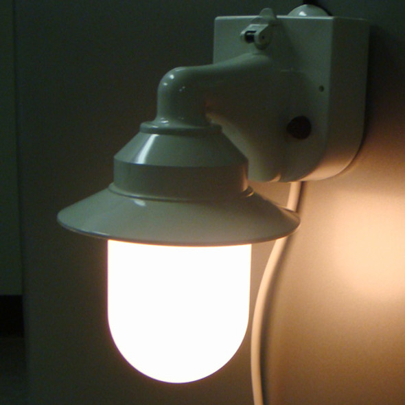 White Portable Lantern lit
