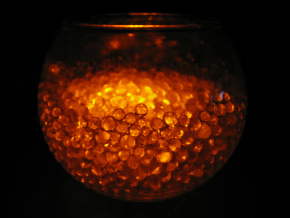 LED Submersible Floralyte, amber (vase example)