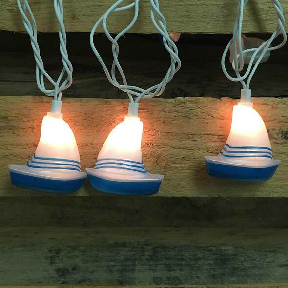 Sailboat String Lights (lit)