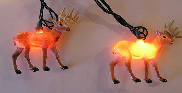 Deer String Lights (lit)