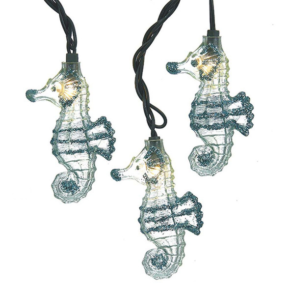 Glitter Seahorse String Lights