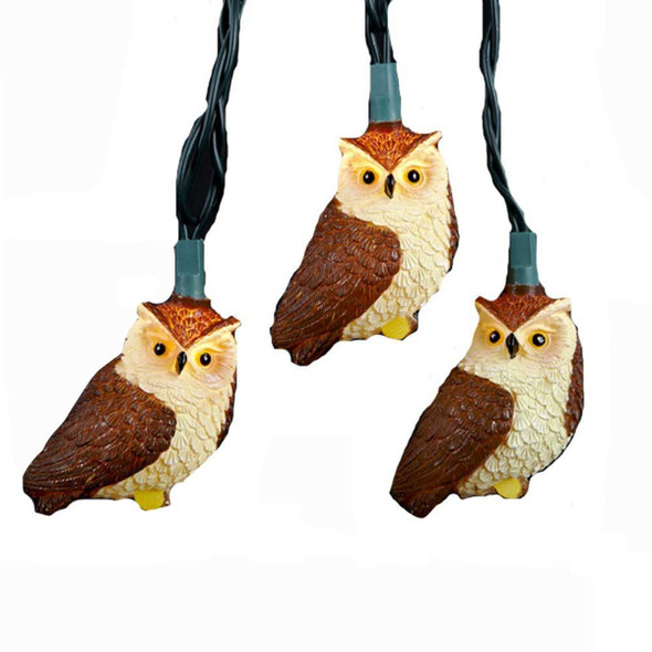 Brown Owl String Lights