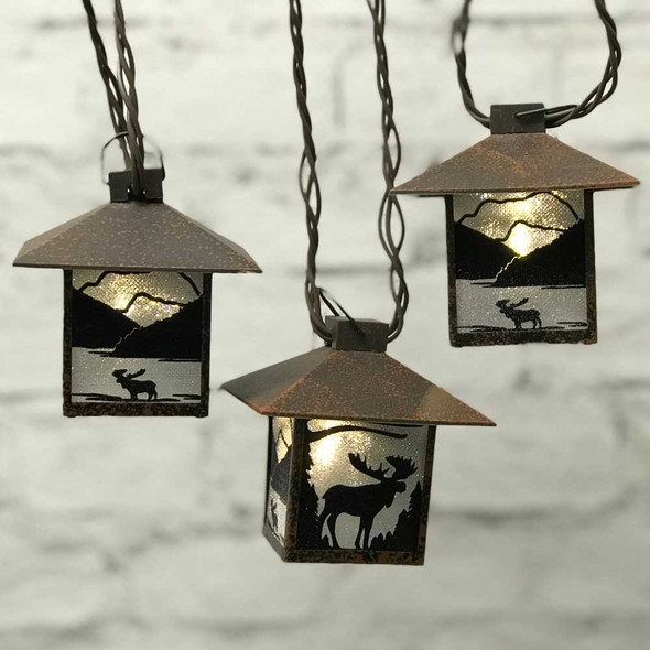Moose Mini Lantern String Lights