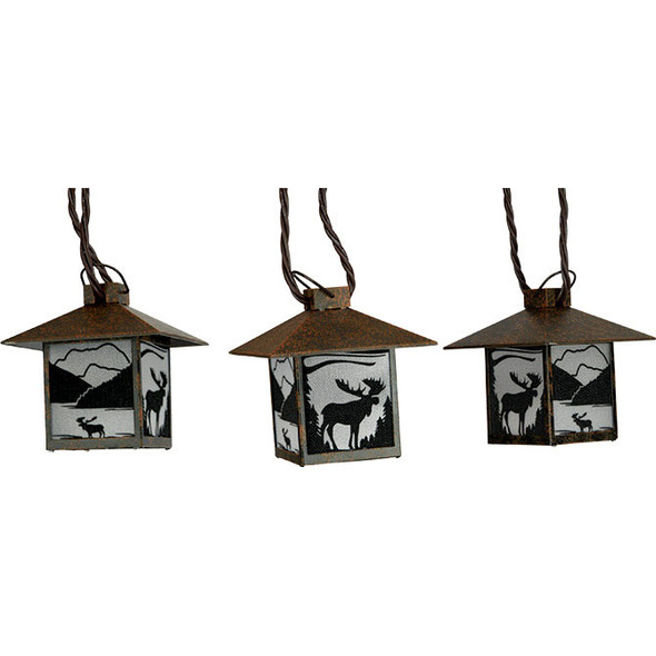 Moose Lantern String Lights (unlit)