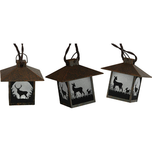Deer Lantern String Lights (unlit)