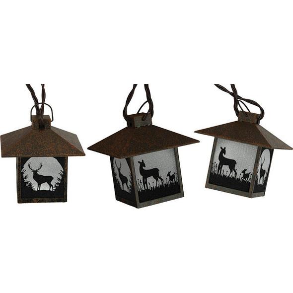Deer Lantern String Lights (unlit)
