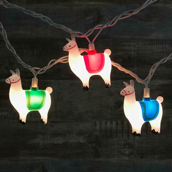 Llama Party Lights (lit)