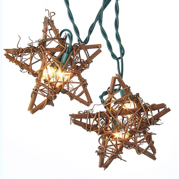 Rattan Star String Lights