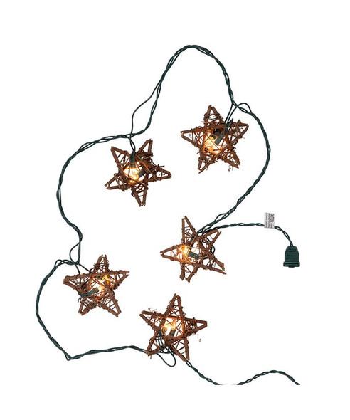Rattan Star String Lights strand