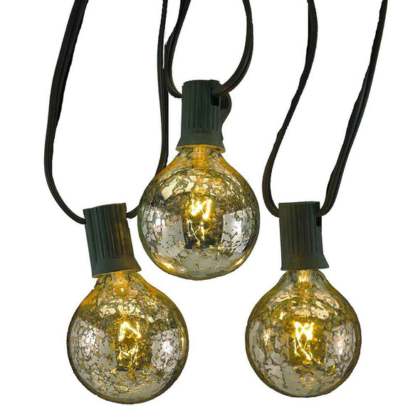 Silver Coated G50 Globe String Lights