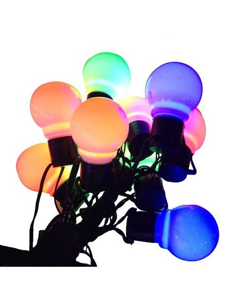 Old Time LED String Lights cluster