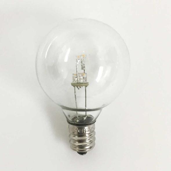 Premium LED G40 Bulb, Warm White, C7 E12 base (unlit)