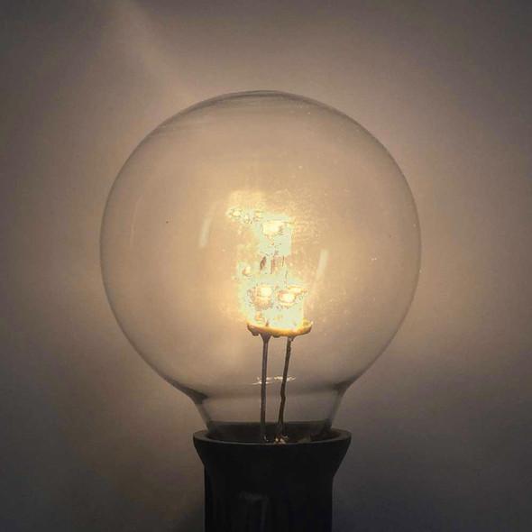Premium LED G40 Bulb, Warm White, C7 E12 base