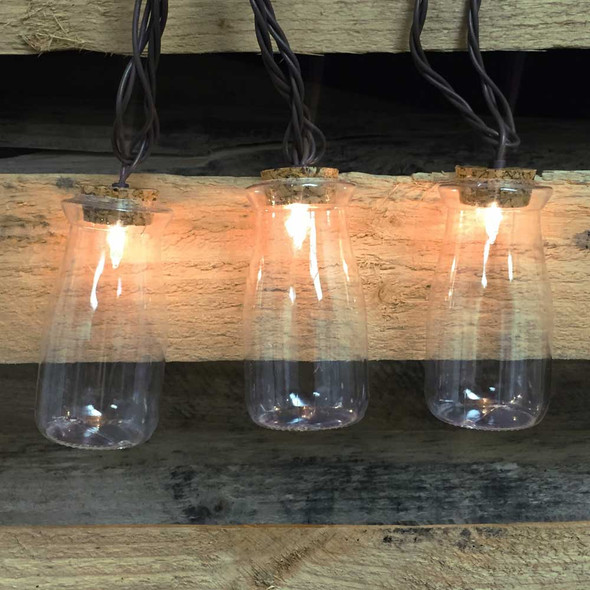 Milk Bottle String Lights (lit)