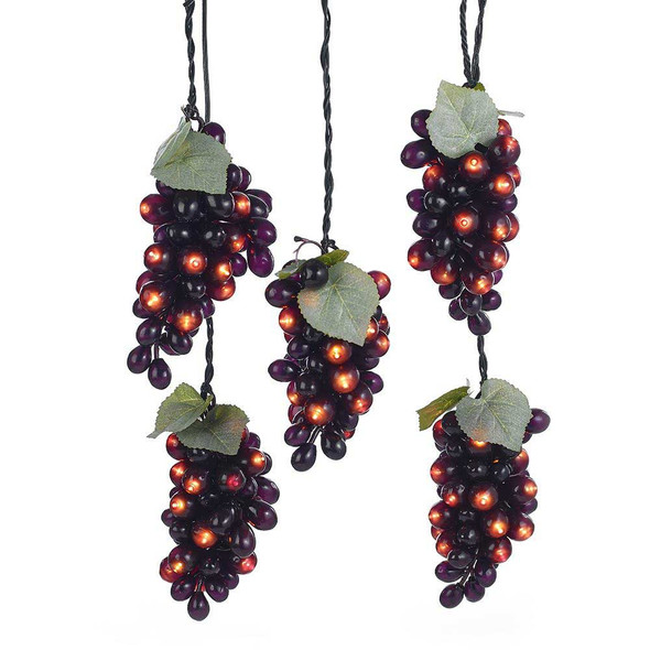Burgundy Grape Lights full view