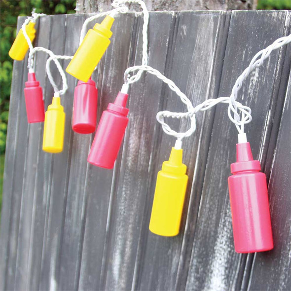 Ketchup and Mustard String Lights
