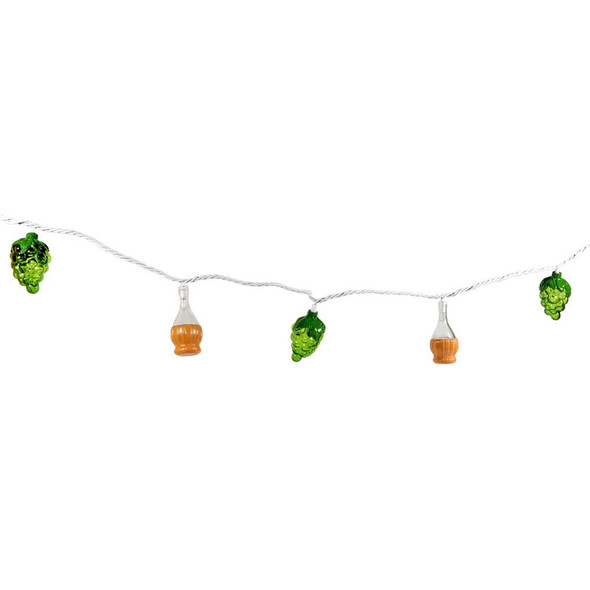Chianti Wine Bottle & Grape Cluster Party String Lights