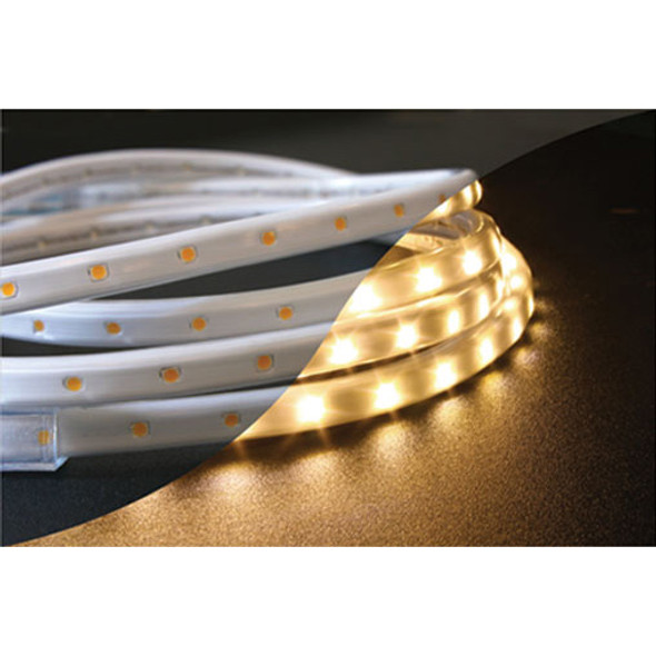 LED Tape Rope Hybrid Lights - 150 ft Warm White (unlit)
