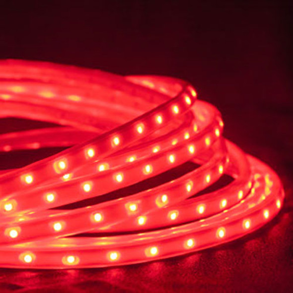 LED Tape Rope Hybrid Lights - 19 ft Red