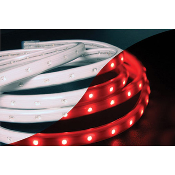 LED Tape Rope Hybrid Lights - 19 ft Red (unlit)