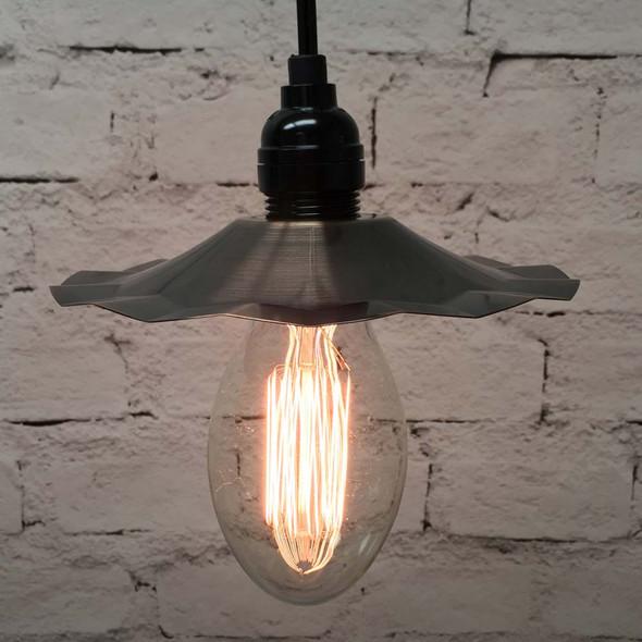 Pendant Light Set with Copper Shade & E75 Vintage Edison Bulb