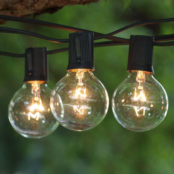 Globe Patio Lights with Clear G50 Bulbs