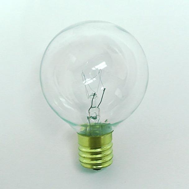 Clear G50 Bulb - C9 Base