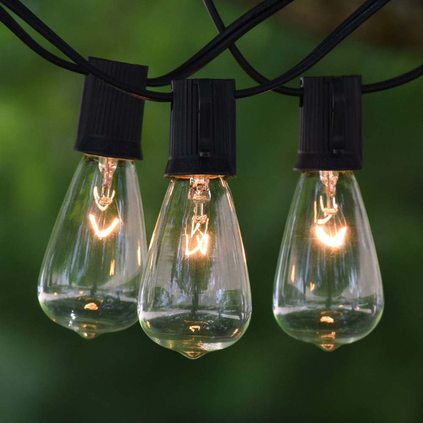 Vintage String Lights with Clear C9 Edison Bulbs