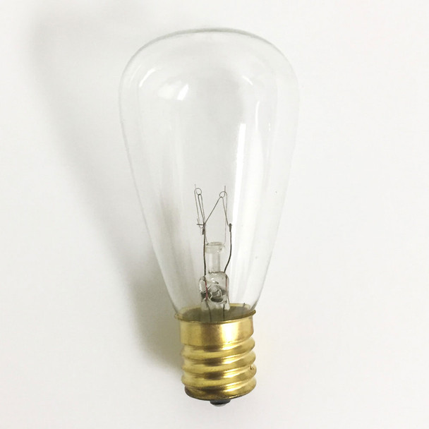 Clear Vintage Bulb with C9 Base