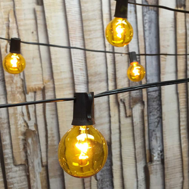 Globe String Lights with Yellow G50 Bulbs
