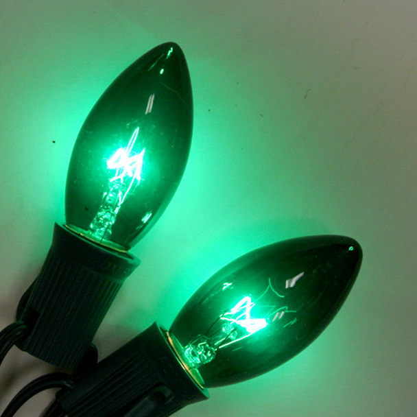 Green C9 Bulbs
