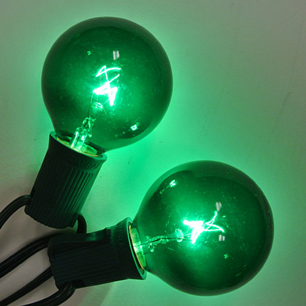 Green G50 Bulbs - C9 Base