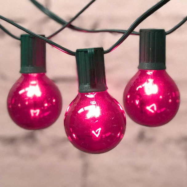 Pink Globe Party String Lights with G50 Bulbs