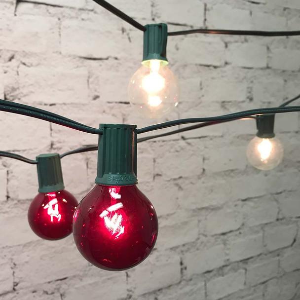 Red & White Globe String Lights
