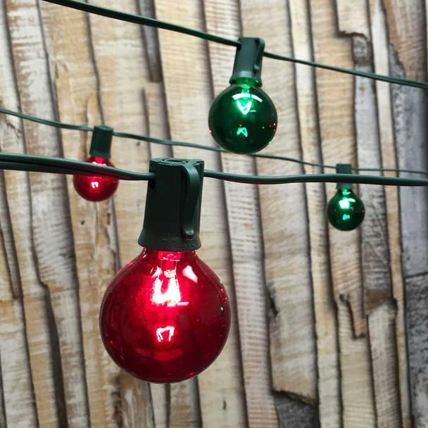 Christmas Globe String Lights with G50 Bulbs