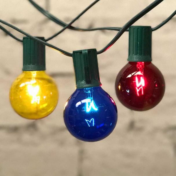 Yellow, Blue & Red Globe String Lights