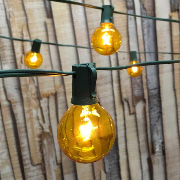 Yellow Globe Lights with G50 Bulbs