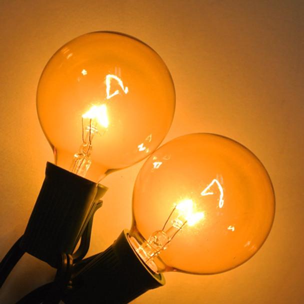 Yellow G50 Bulbs with C9 Base